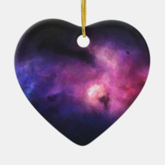 Abstract Nebulla with Galactic Cosmic Cloud 33 Ceramic Ornament
