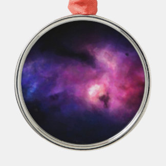 Abstract Nebulla with Galactic Cosmic Cloud 33 Metal Ornament