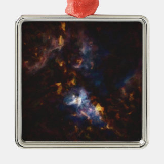 Abstract Nebulla with Galactic Cosmic Cloud 34 Metal Ornament