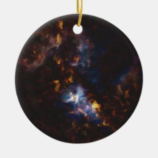 Abstract Nebulla with Galactic Cosmic Cloud 34 xl. Ceramic Ornament