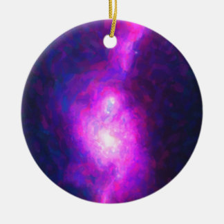 Abstract Nebulla with Galactic Cosmic Cloud 36 Ceramic Ornament