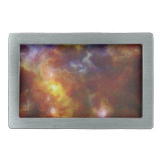 Abstract Nebulla with Galactic Cosmic Cloud 37 Rectangular Belt Buckles