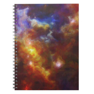 Abstract Nebulla with Galactic Cosmic Cloud 37 Spiral Notebook