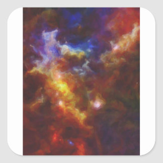 Abstract Nebulla with Galactic Cosmic Cloud 37 Square Sticker