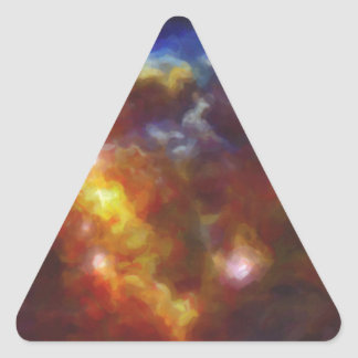 Abstract Nebulla with Galactic Cosmic Cloud 37 Triangle Sticker