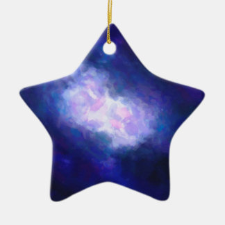 Abstract Nebulla with Galactic Cosmic Cloud 38 Ceramic Ornament