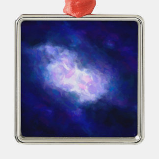 Abstract Nebulla with Galactic Cosmic Cloud 38 Metal Ornament