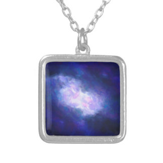 Abstract Nebulla with Galactic Cosmic Cloud 38 Silver Plated Necklace