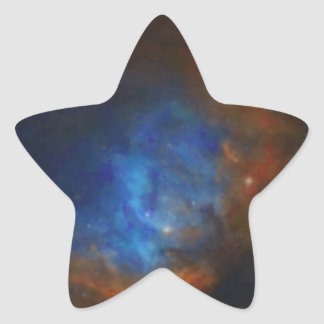 Abstract Nebulla with Galactic Cosmic Cloud 39 Star Sticker