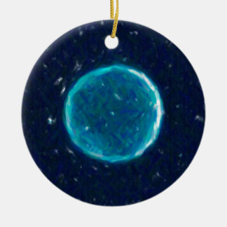 Abstract Nebulla with Galactic Cosmic Cloud 41 Cir Ceramic Ornament