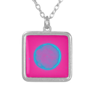 Abstract Nebulla with Galactic Cosmic Cloud 41 Cir Silver Plated Necklace