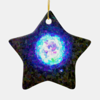 Abstract Nebulla with Galactic Cosmic Cloud 42 Sph Ceramic Ornament