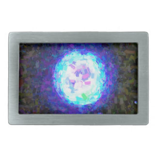 Abstract Nebulla with Galactic Cosmic Cloud 42 Sph Rectangular Belt Buckle