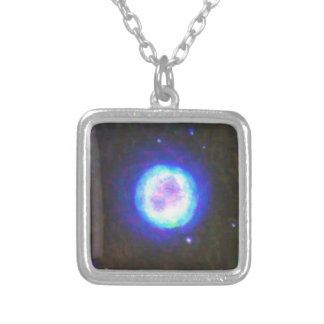 Abstract Nebulla with Galactic Cosmic Cloud 42 Sph Silver Plated Necklace