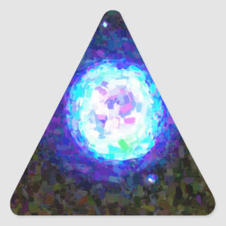 Abstract Nebulla with Galactic Cosmic Cloud 42 Sph Triangle Sticker