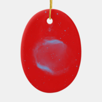 Abstract Nebulla with Galactic Cosmic Cloud 43 Sph Ceramic Ornament