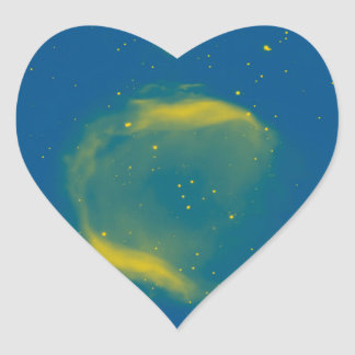 Abstract Nebulla with Galactic Cosmic Cloud 43 Sph Heart Sticker