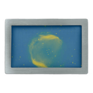 Abstract Nebulla with Galactic Cosmic Cloud 43 Sph Rectangular Belt Buckle