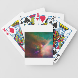 Abstract Nebulla with Galactic Cosmic Cloud 44 med Bicycle Playing Cards