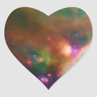 Abstract Nebulla with Galactic Cosmic Cloud 44 med Heart Sticker