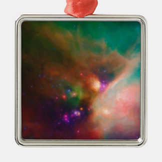 Abstract Nebulla with Galactic Cosmic Cloud 44 med Metal Ornament
