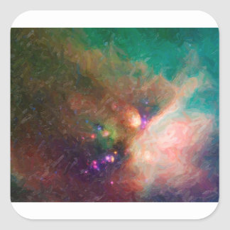 Abstract Nebulla with Galactic Cosmic Cloud 44 med Square Sticker