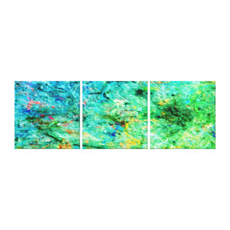 Abstract Neon Colors Art Splatter Gallery  Canvas