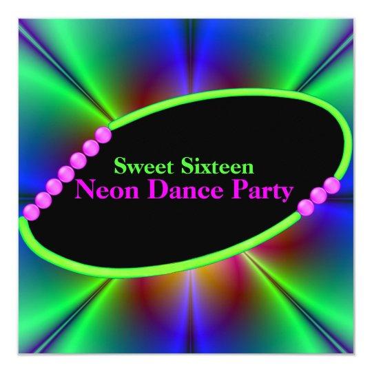 Abstract Neon Custom Party Invitation
