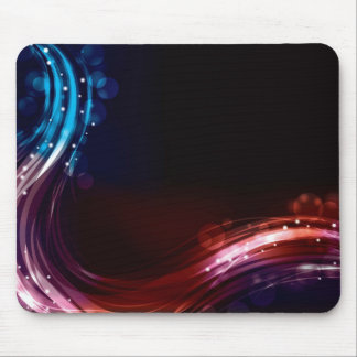 Abstract neon spectrum light effect mouse pad