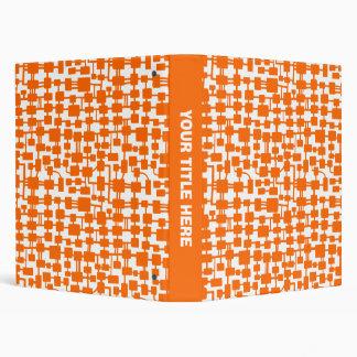 Abstract Network - Orange on White Binder