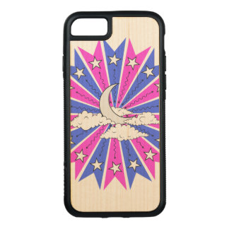 Abstract Night Skyline Illustration Carved iPhone 7 Case