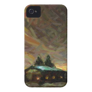 abstract nordic winter scene Case-Mate iPhone 4 case
