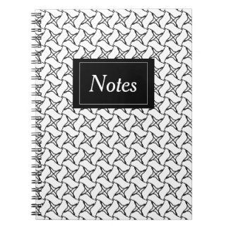 Abstract notebook with photograph