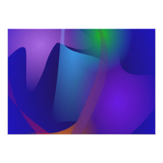 Abstract Objects in the Blue Room Custom Invite