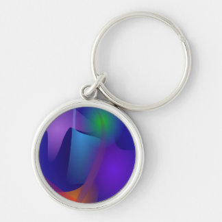 Abstract Objects in the Blue Room Key Chain