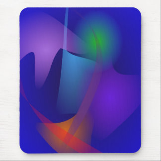 Abstract Objects in the Blue Room Mousepads