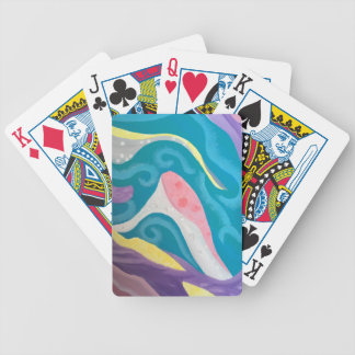 Abstract Ocean Bicycle Playing Cards