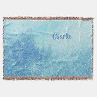 Abstract Ocean custom name throw blanket