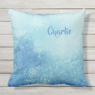 Abstract Ocean custom name throw pillows