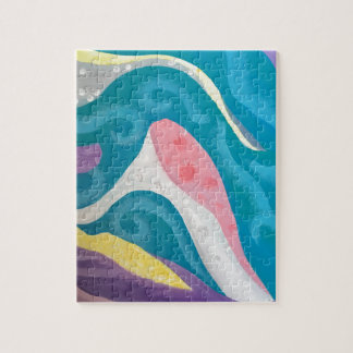 Abstract Ocean Jigsaw Puzzle