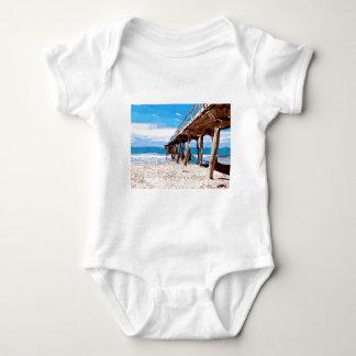 Abstract Ocean Pier Baby Bodysuit