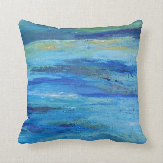 Abstract Ocean Waves Pillow
