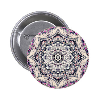 Abstract Octagonal Mandala 2 Inch Round Button