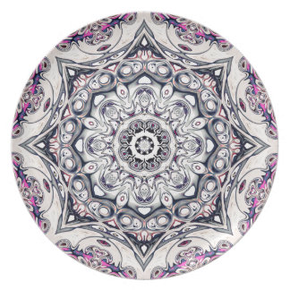 Abstract Octagonal Mandala Plate