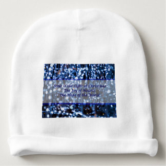 Abstract Of Blue Lights Text Baby Beanie