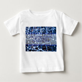 Abstract Of Blue Lights Text Baby T-Shirt