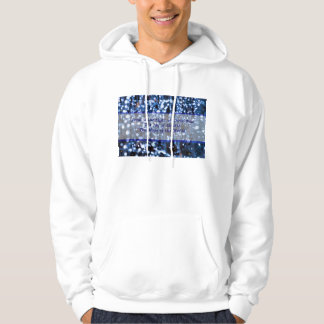 Abstract Of Blue Lights Text Hoodie