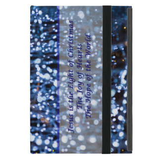 Abstract Of Blue Lights Text iPad Mini Case