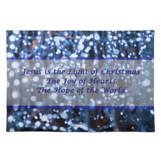 Abstract Of Blue Lights Text Placemat