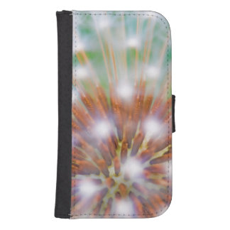 Abstract of dandelion seed head galaxy s4 wallet case